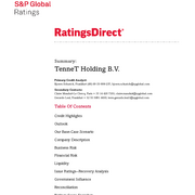 Credit Rating S&P TenneT Holding B.V. (November 2018)