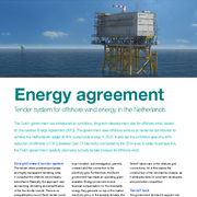 Tender system for offshore wind energy in the Netherlands