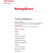 Credit Rating S&P TenneT Holding B.V. (November 2017)