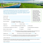Request form 'Customer connection'