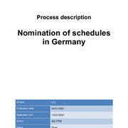Process description nomination of schedules in Germany