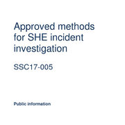 Approved methods for SHE incident investigation