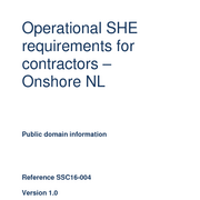 Operational SHE requirements for contractors – Onshore NL (ENG)