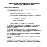 Implementation notes for the electronic KWKG annual report