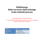 Rules on secure data exchange in the schedule process