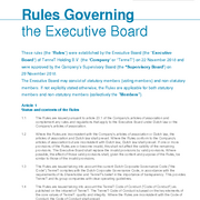 Rules governing Executive Board