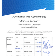 Operational SHE Requirements Offshore O&M Germany (ENG)