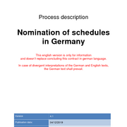 Nomination of schedules in Germany