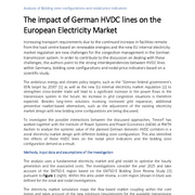 The impact of German HVDC lines on the European Electricity Market
