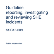 CSS15-009 Guideline incident reporting investigation and review