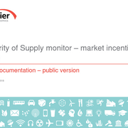 Security of Supply monitor - market incentives study